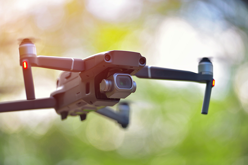 aerial drone flying over a house during a home inspection