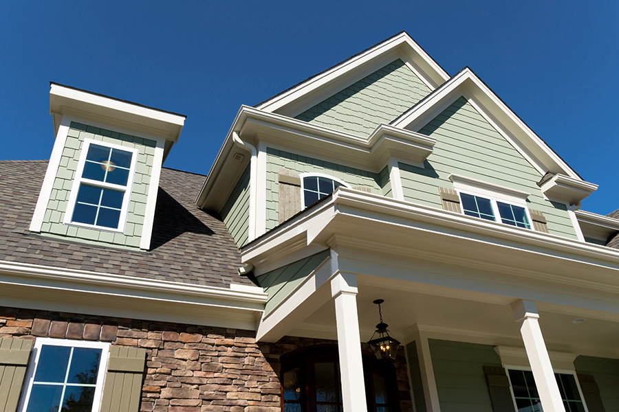 New construction home seen while providing home inspection services