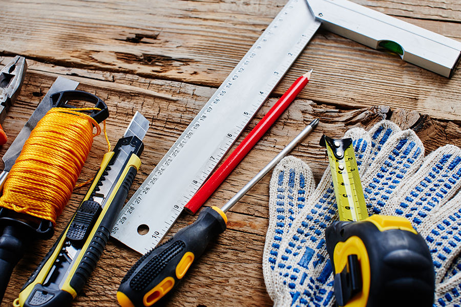set of tools to do Maintenance work before home inspection services are carried out